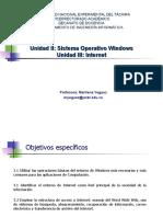 Unidad II y III Windows e Internet