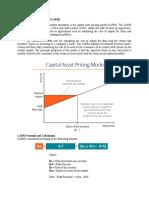Capital Asset Pricing Model Written Report