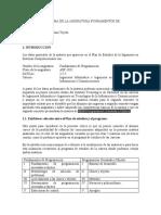 CRÍTICA AL PROGRAMA DE LA ASIGNATURA FUNDAMENTOS DE PROGRAMACION