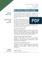Maria Patricia Carmela Lugar's Resume