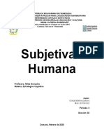 Subjetivad Humana (trabajo)