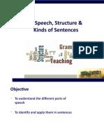 Parts of Speech,Structure of Sentences.