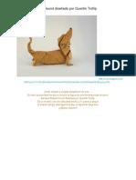 perro salchicha _ El Arte Del Origami