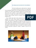 MÉTODOS DE ANALISIS DE AGUA DE CALDERAS