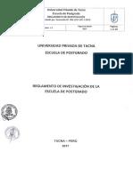 REGLAMENTO DE INVESTIGACIÓN 2018