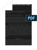ESCRITO DE AMPARO CONSTITUCIONAL HABEAS CORPUS
