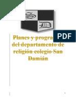 Planes y programas de religión. media