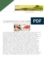 LA MENSTRUACIÓN ES UNA _ENFERMEDAD_ - Escuela de Salud Gallego