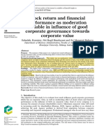 STOCK RETURN AND FINANCIAL PERFORMANCE AS MODERATION VARIABLE IN INFLUENCE OF GCG TOWARDS CORPORATE VALUE