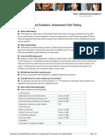 FAQ Field Testing 12-22