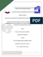 Metodología para personal técnico referente a los aspectos administrativos relacionados con el pago de bienes o servicios de los proyectos ejecutados por la GEIC
