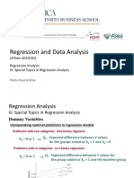 Special Topics in Regression Analysis
