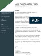 CV José Roberto Alcázar Padilla - Safetynova Lic en HyS.pdf
