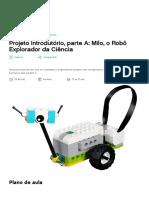 Projeto Introdutório, parte A_ Milo - WeDo 2.0 Ciência - Plano de aula - LEGO Education