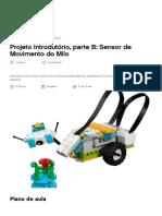 Projeto Introdutório, parte B - WeDo 2.0 Ciência - plano de aula - LEGO Education