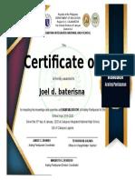 certificate-HONORS