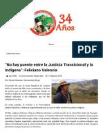 """ONIC - """"No hay puente entre la Justicia Transicional y la Indígena""""_ Feliciano Valencia.pdf"""
