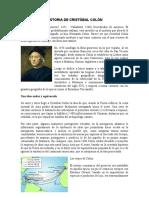 HISTORIA DE CRISTÓBAL COLÓN