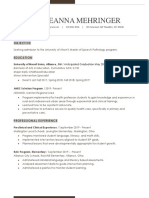 graduate school resume for akron