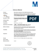 certificado sol kcl 0.01 M