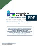 CONVOCATORIA CAS N°001- AL CAS N°044-2020 MUNICIPALIDAD PROVINCIAL DE HUANCAVELICA