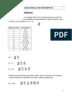 Simbología braille matematica.