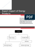 Export-Import of Energy Products