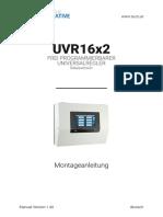 Manual UVR16x2 Montageanleitung Relaisversion V1.40