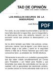 LOS ANGULOS OSCUROSDELA INSEGURIDAD