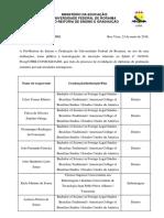 Edital 24 - revalidao de diplomas estrangeiros 2016.1 - Homologao das inscries