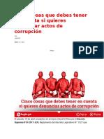 Cinco cosas que debes tener en cuenta si quieres denunciar actos de corrupción