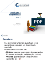 Aula 2 - Introducao a Programacao