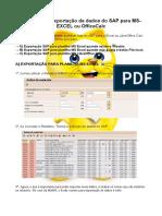 03 - Manual Export Relatório SAP to xls