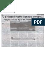 O proteccionismo agrícola europeu, Angola e as ajudas internacionais