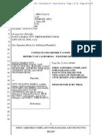 Santa Maria Firefighters IAFF Local 2020 v. Santa Maria et al, first amended complaint