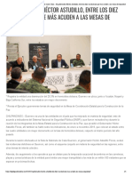 18-12-2019 El Polígrafo Costeño, La neta desde la Costa Chica » El gobernador Héctor Astudillo, entre los diez mandatarios que más acuden a las mesas de seguridad.