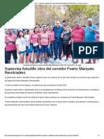 31-12-2019 Supervisa Astudillo obra del corredor Puerto Marqués-Revolcadero.