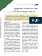 Cracking of High Density Polyethylene Pyrolysis Waxes on HZSM‑5