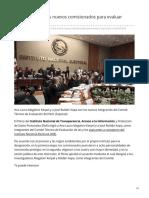 19/Febrero/2020 Nombra INAI a dos nuevos comisionados para evaluar aspirantes a INE