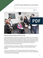 19/Febrero/2020 Senadores exigen a CNDH imparcialidad para comité sobre consejeros del INE