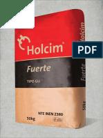 Certificado de Calidad Cemento Uso General