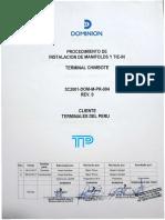 3C2001-DOM-M-PR-004 Rev.0 Inst. Manifold y Tie in.pdf