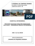 CIRURGIA DE PEQUENOS ANIMAIS Patos 2018
