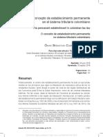 El concepto de establecimiento permanente en el sistema tributario colombiano