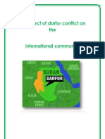The Effect of Darfur Conflict on the International Community