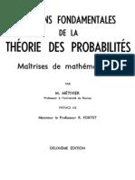 Notions Fond Amen Tales Des La Theorie Des Probabiltes