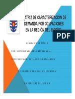 9. Matriz de caracterizacion de la demanda Victoria Mendez
