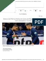 Elenco Do PSG Se Fecha Em Torno de Neymar Após Racha Com Leonardo e Tuchel - 10-03-2020