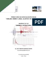 Análisis Sísmico - Sesión 03 y 04 (Manual)