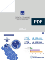 Estado de obras de AySA en Escobar hasta enero de 2020